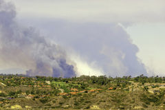 Brush Fires, San Diego County, California Royalty Free Stock Images
