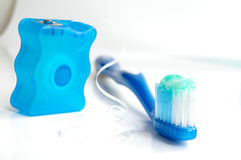 Brush and floss royalty free stock photos