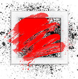Brush 01 frame rad. Smudge and smear a brush in a frame, vector background, illustration clip-art royalty free illustration