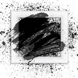 Brush 01 frame. Smudge and smear a brush in a frame, vector background, illustration clip-art stock illustration