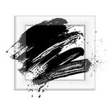 Brush 03 frame. Smudge and smear a brush in a frame, vector background, illustration clip-art stock illustration