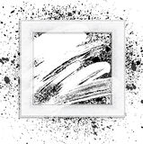 Brush 01 frame white. Smudge and smear a brush in a frame, vector background, illustration clip-art stock illustration