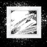 Brush 03 frame white. Smudge and smear a brush in a frame, vector background, illustration clip-art stock illustration