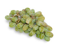 Brush of green grapes  Royalty Free Stock Images