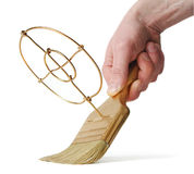 brush guldhandmålet Fotografering för Bildbyråer