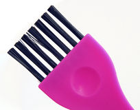 Brush hair. Tool in large close relations,used to putting a hair paint Royalty Free Stock Image