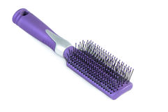 Brush hair. Styling on a white background stock photos