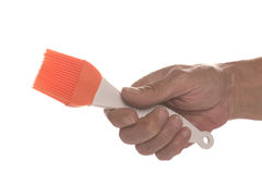 Brush in hand Stock Image