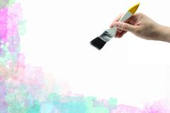 Brush with hand Royalty Free Stock Photography