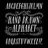 Brush hand drawn  font Stock Photo