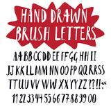 Brush hand drawn  font Royalty Free Stock Image