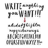 Brush hand drawn  font Royalty Free Stock Image