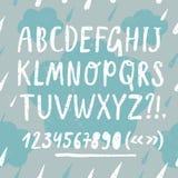 Brush hand drawn textured  font Royalty Free Stock Photos