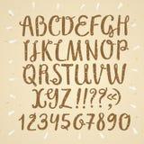 Brush hand drawn textured vector font Royalty Free Stock Photos