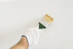 Brush in hand Royalty Free Stock Image