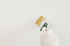 Brush in hand Royalty Free Stock Photos
