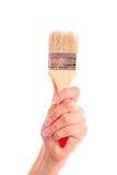 Brush in hand isolated Stock Photography