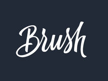 Brush hand lettering. Vector illustration Royalty Free Stock Photography