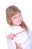 brush henne vägrar tänder till Arkivbild