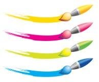 Brush icons Stock Photography