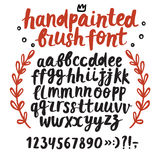 Brush ink  ABC letters and figures set. Hand drawn brush ink  ABC letters and figures set. Lower case. Handpainted doodle comic font for your design Stock Photography