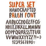 Brush ink vector ABC letters set. Hand drawn brush ink vector ABC letters set. Handcrafted  doodle comic font for your design Stock Photo