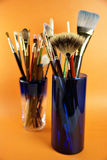 Brush in jar Stock Images