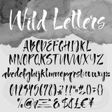 Brush lettering alphabetical set Stock Photography