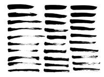 Brush lines set. Vector illustration stock photo