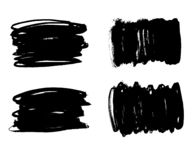 Brush lines set. Vector illustration royalty free stock images