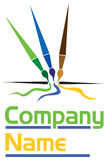 Brush logo Royalty Free Stock Photography