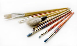 Brush lying on the table Royalty Free Stock Images