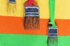brush målarfärg Arkivbilder