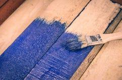 brush målarfärg Arkivfoto