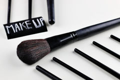 Brush for make up Royalty Free Stock Photo
