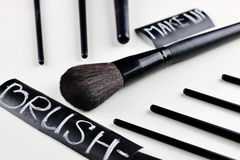 Brush for make up Stock Images
