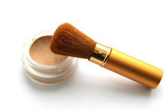 Brush for make-up and powder Stock Photo
