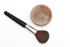 Brush for make-up with powder Royalty Free Stock Images