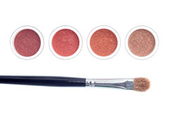 Brush and makeup isolated royalty free stock image