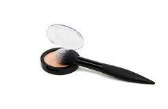 Brush for makeup isolated Stock Image