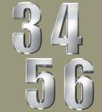 Brush Metal Type Style Stock Image