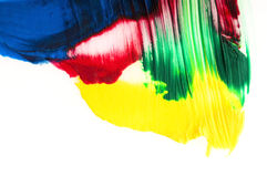 Brush mixing paint Royalty Free Stock Image