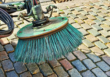 Brush of old street cleaning machine Royalty Free Stock Image