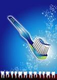 Brush one's teeth. Toothbrush and teeth Vector Illustration