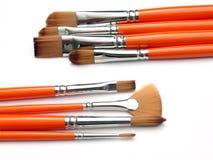Brush org 02. Group of brushes Stock Photography