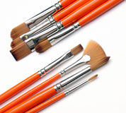 Brush org 03. Group of brushes Stock Image