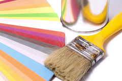 Brush Over Color Swatches Royalty Free Stock Images