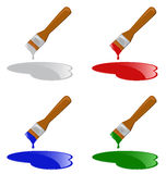 Brush pack Royalty Free Stock Photography