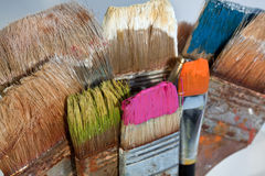 Brush and paint Stock Photo