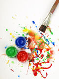 Brush and paint Stock Photos